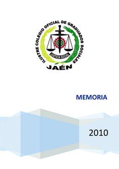Portada Memoria Actividades 2010
