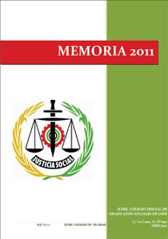 Portada Memoria Actividades 2011