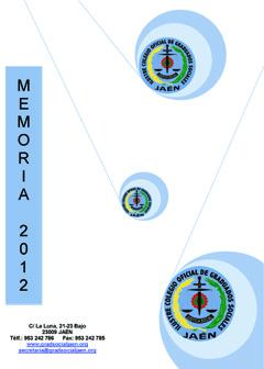 Portada Memoria Actividades 2012