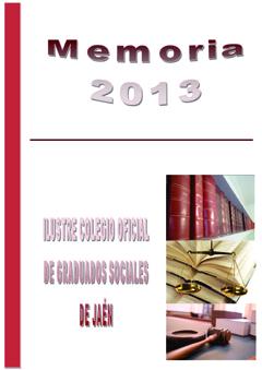 Portada Memoria Actividades 2013