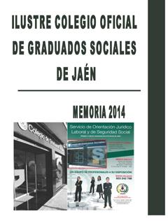 Portada Memoria Actividades 2014