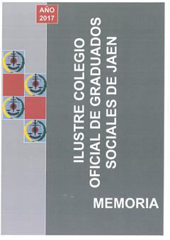 Portada Memoria Actividades 2017